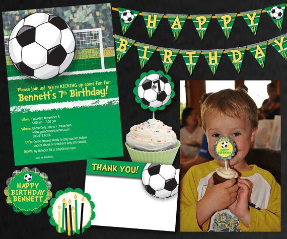 Soccer Party Collection  Birthday by SassyPartyDesigns on Etsy