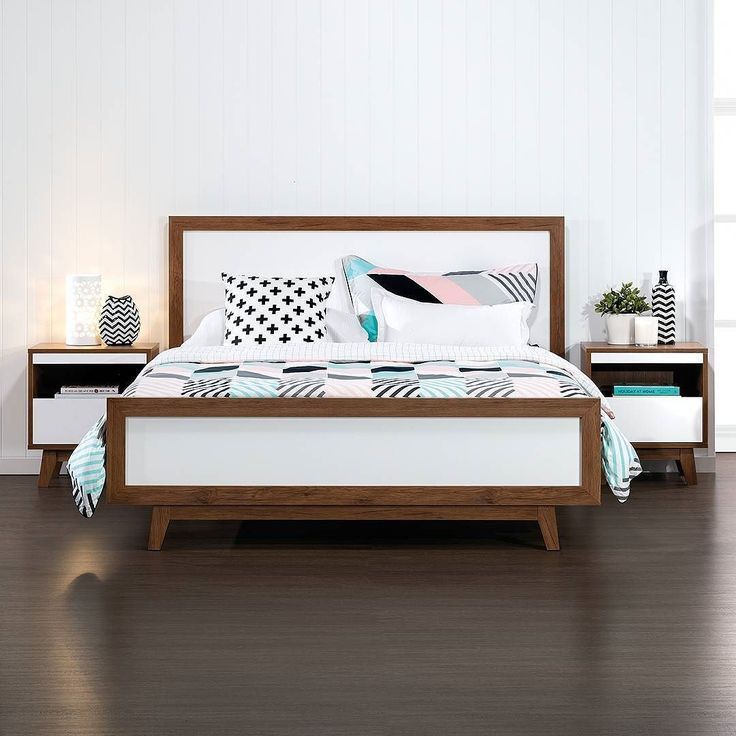Escape to a Scandi paradise! Andi 4 piece Queen Bed only $399.95 #scandi #retro #style #bedroom #bedroomtips #bedroominspo