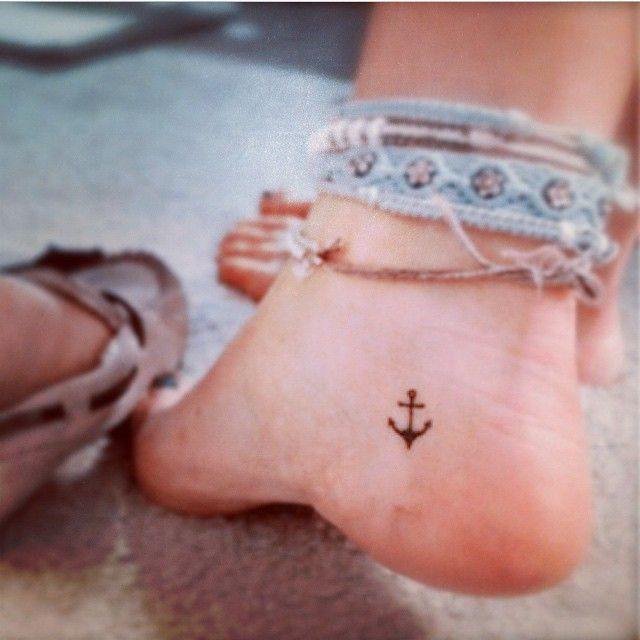 small anchor tattoos for girls