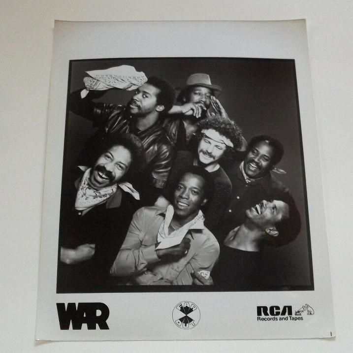 WAR (soul/funk group) Original RCA Glossy Promotional Press Photo [44497] - $14.95 : Vinyl Frontier Music, - Rare Records, CDs, posters, memorabilia, and more:, Vinyl Frontier Music, - Rare Records, CDs, posters, memorabilia, and more: