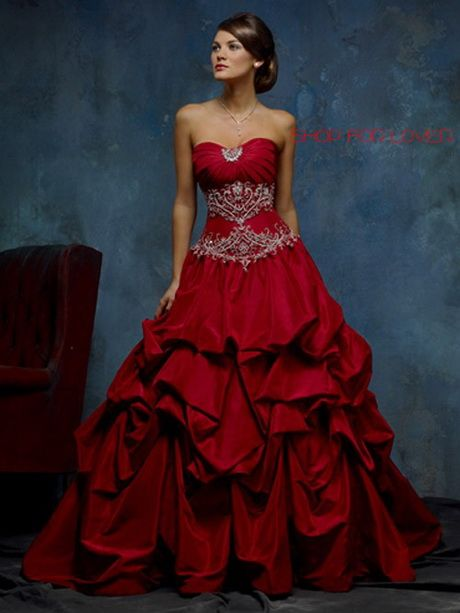 The 25  best Red wedding dresses ideas on Pinterest | Red corset ...