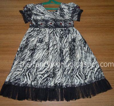 My Fancywork Blog: Детское нарядное платье из шелка в черно-белой гам...