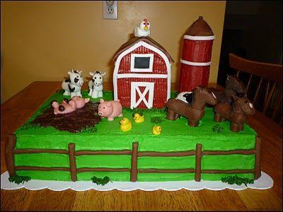Old MacDonald Farm Animals | Old McDonald Had A Farm Cake