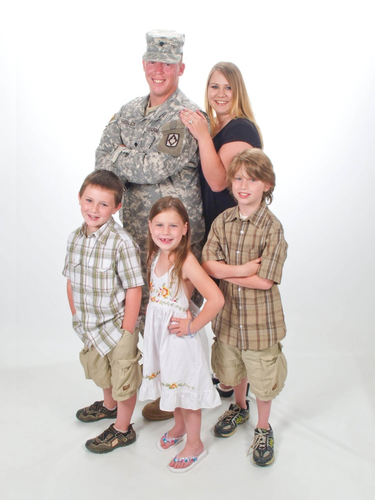 Military Family Portrait Ideas