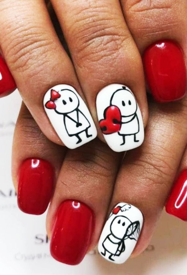 70 Cute Valentine Nail Art Designs for 2019