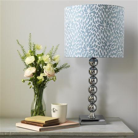 Dahlia Blue Lamp Shade