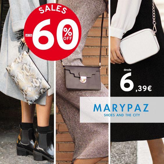 ¡ Las REBAJAS de MARYPAZ disponible también en nuestra colección de bolsos !  Descubre las REBAJAS con hasta el 60% dto. en muchos de nuestros artículos en TIENDA y ONLINE www.marypaz.com      Descubre nuestra colección de BOLSOS► http://www.marypaz.com/tienda-online/bolsos.html