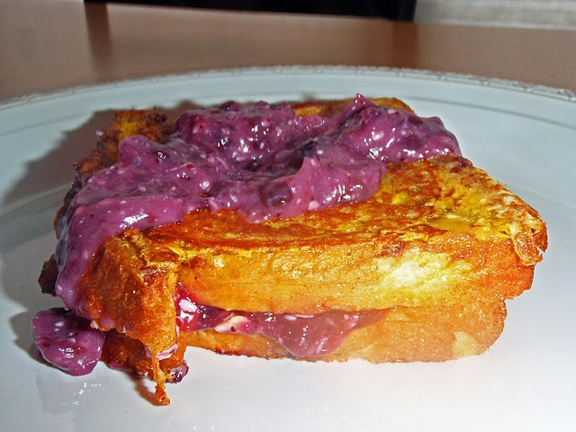 Blueberry Cream Stuffed French Toast | Breakfast | Pinterest