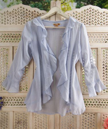 Take a look at this Periwinkle Anna Sheer Cardigan by April Cornell on #zulily today!