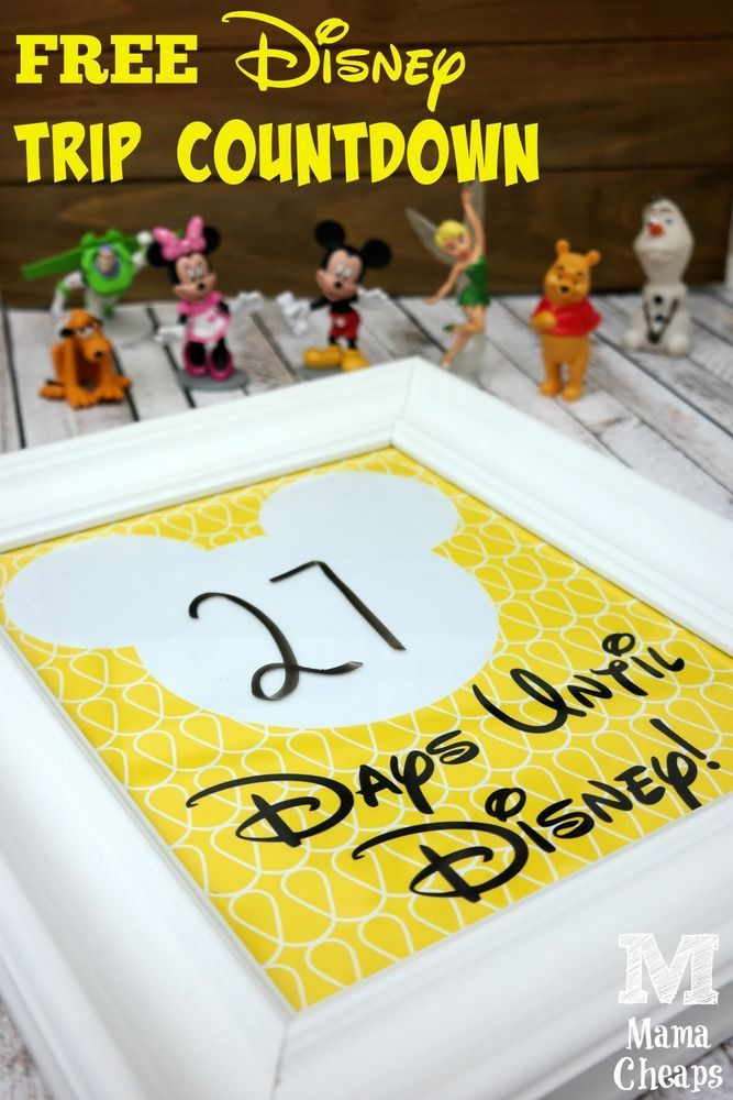 Here's a new spin off of the Cinderella-inspired Disney trip countdown I made last week! Now it's Mickey's turn to take center stage. Counting down to vacation is so much fun and …