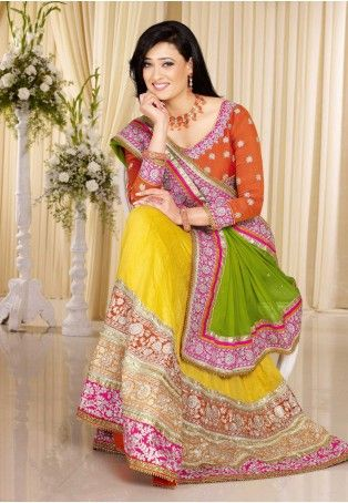 Costume Up In This Attractive Yellow Faux Georgette,Jute Silk Lehnga Choli. Beautified With Floral Patch,Lace,Resham,Stones Work All Synchronized Very Well Through The Trend And Design Of The Attire. - See more at: http://www.daindiashop.com/women/Lehanga/Alluring-Yellow-Embroiderd-Lehenga-Choli#sthash.4rBbfrjP.dpuf