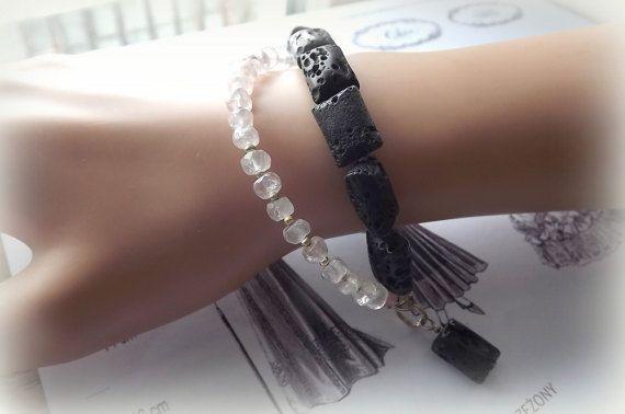 Jewelry Bracelets Bracelet with minerals by AcoyaJewellery on Etsy