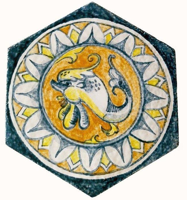 Гротески - изразцы, сделанные по мотивам орнаментов Эпохи Возрождения