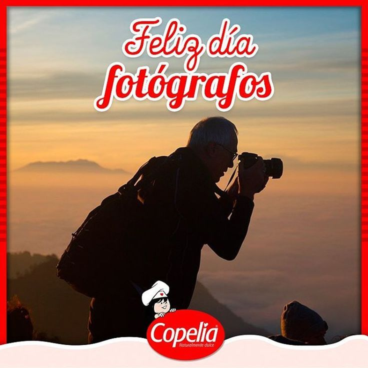 Hoy se celebra la paciencia, la observación detallada del entorno, la creatividad, la inventiva, la permanente búsqueda de imágenes únicas, hoy se celebra al fotógrafo. #Copelia felicita a los fotógrafos en su día.