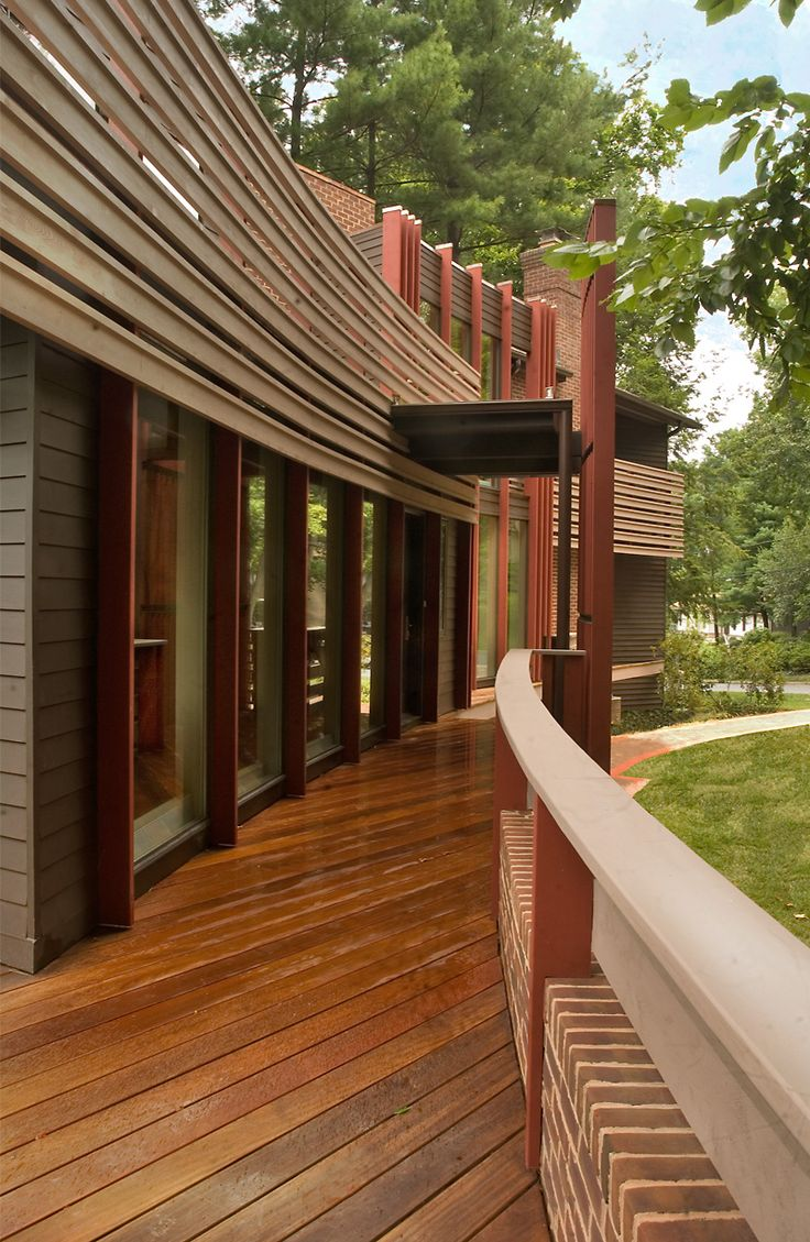 The best sustainable woods for exterior siding and decking - Modern Architecture Design Wrap Around Wood Deck Metal Panels Exterior Donald Lococo Modern Architecture Firm Washington Dc