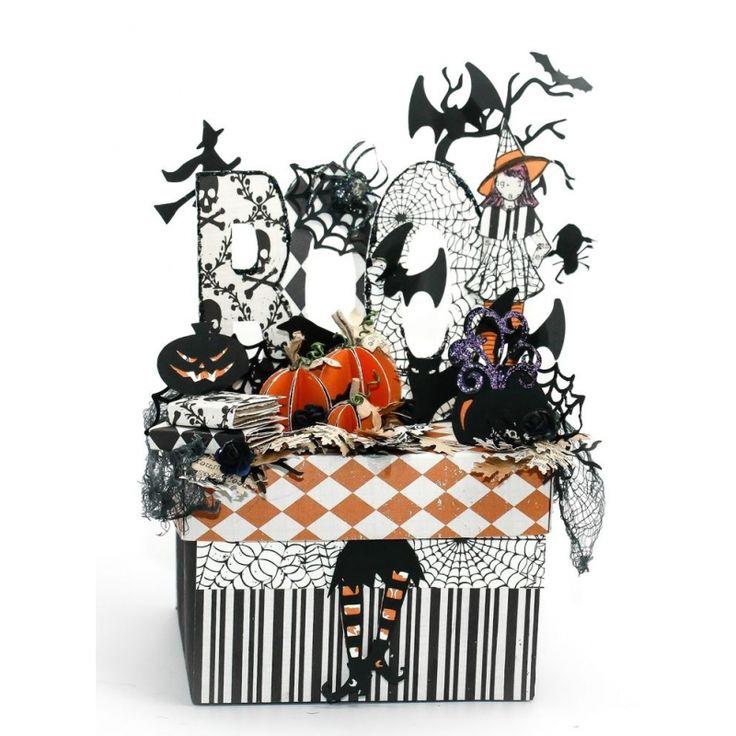 Подарочная коробочка на Хэллоуин | CuteCut #скрапбукинг #скрап #scrapbooking #scrap #handmade #ручнаяработа #творчество