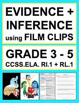Inferencing with VIDEOS: Lesson Plan & Student Activities NO PREP: se fun film clips to teach students to answer literal and inferential questions when reading literature and informational texts. Introduce, Practice & Assess CCSS.ELA.RI.1 & CCSS.RL.1 (GRADES 3 - 5)! erfect for reluctant readers and students with disabilities. Common Core ELA Test Prep is FUN with VIDEO CLIP ACTIVITIES! CURE FOR DISENGAGED STUDENTS & RELUCTANT READERS! Why use boring texts when you can use pixar shorts and…