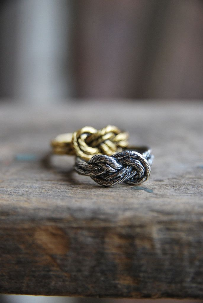Figure 8 Knot Ring via Old Hollywood - This, but tattoos after the wedding for when we're climbing without rings