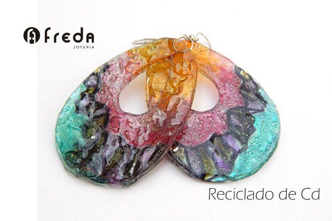 FREDA.Reciclado de cd. Aros