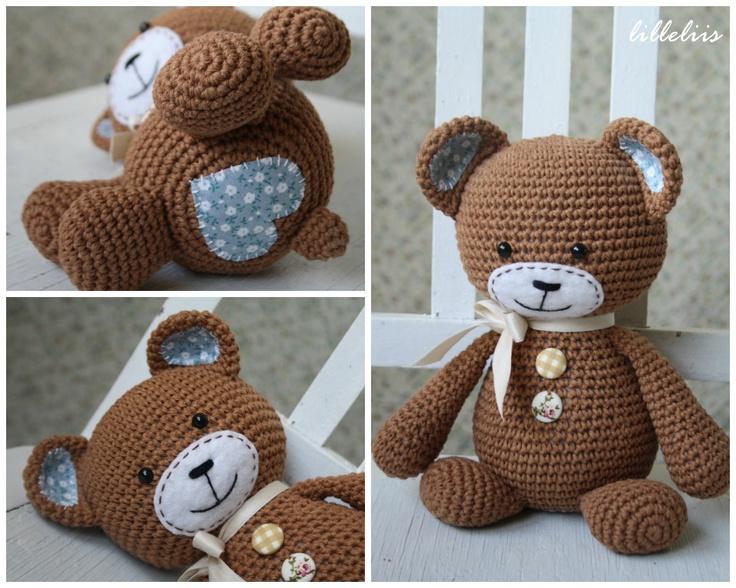 Crochet Love Heart Bear - Idea