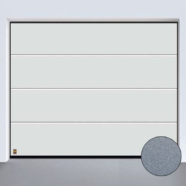 h rmann sektionaltor mit l sicke bis 3000 x 2500 mm in sandgrain oberfl che farbe wei oder. Black Bedroom Furniture Sets. Home Design Ideas