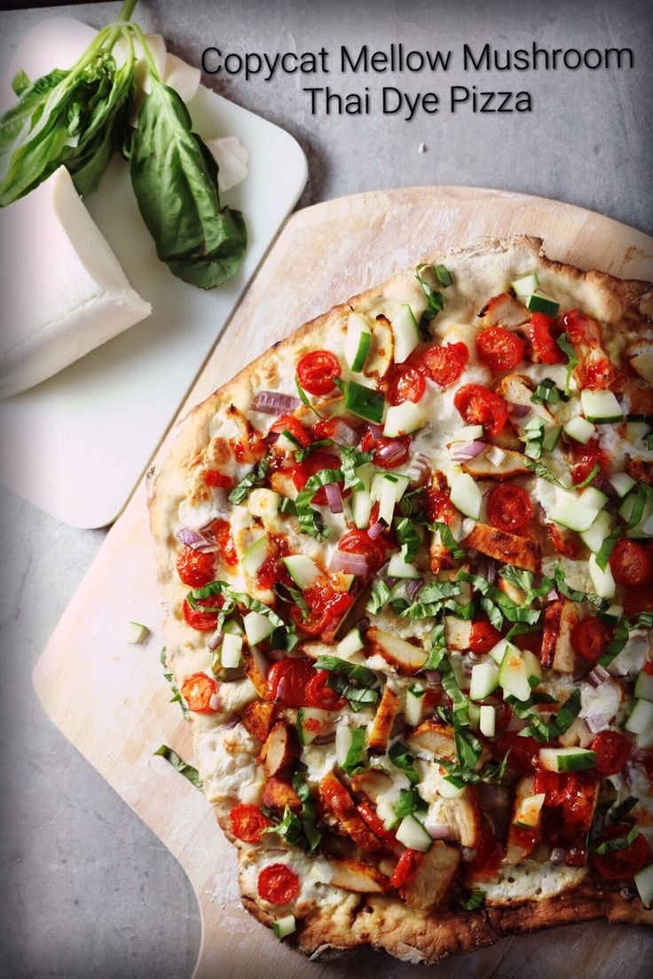 Copycat Mellow Mushroom Thai Dye Pizza