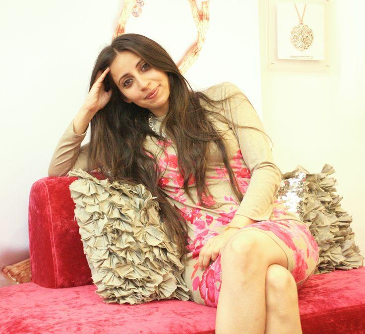 Pallavi Dudeja Foley at her design studio at the Leela Palace Bangalore #jewellerydesigner #designerjewels www.pallavifoley.com