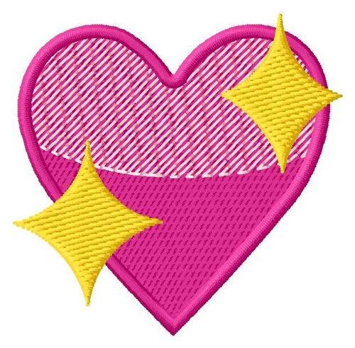 Heart Diamonds Emoji 2 Sizes Machine Embroidery Design   Windmill Designs