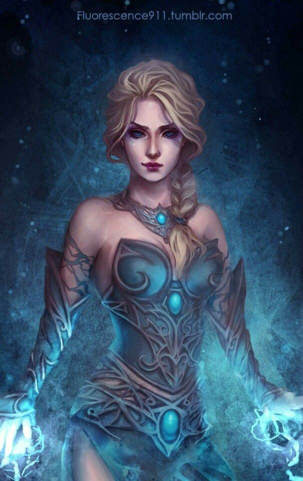 Elsa as a Frost Mage