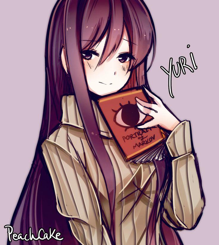 """Yuri is best girl"" - by PeachCake.   Doki Doki Literature Club   Know Your Meme"