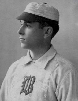 Hugh Duffy is best known for setting the MLB single-season record for batting average, he was elected to the Baseball Hall of Fame in 1945.   In 1894 with the Boston Beaneaters Duffy had one of the greatest seasons in baseball history, leading the league with 18 home runs, with 145 RBI and a .440 batting average to win the Triples Crown.