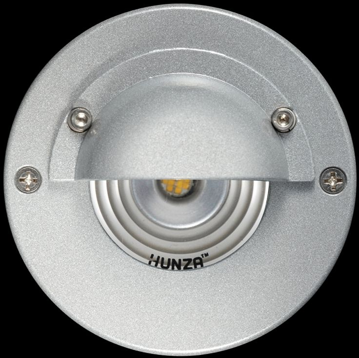 Hunza Step Lite Eyelid Pure LED is designed with a 88mm  flange and recessed body for flush mounting into masonry, stone or wood