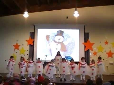 """MUÑECO DE NIEVE""- Villoria Infantil 3- Festival Navidad 2012 - YouTube"