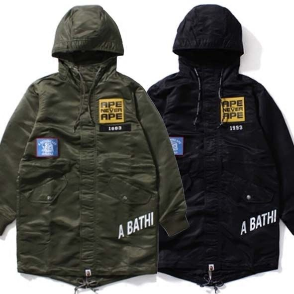 ABATHING APE GENERALS 1993 BUSY WORKS M51 BADGED WINDBREAKER HOODED OVERCOAT #overcoat #busyworks #work #teabreak #bapeape #apeebape #apeeuniverse #bape #windbreaker  http://www.sanalpazar.com/abathing-ape-generals-1993-busy-works-m51-badged-windbr/i-70364678  https://www.cliqueshop.com/en/catalog/item/123193/