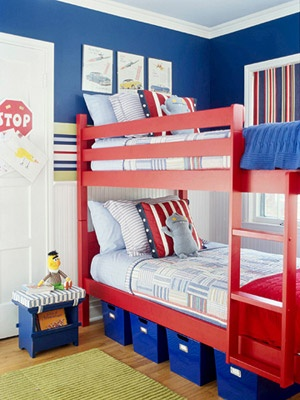 Already have the bright red bunk beds... now for some paint!