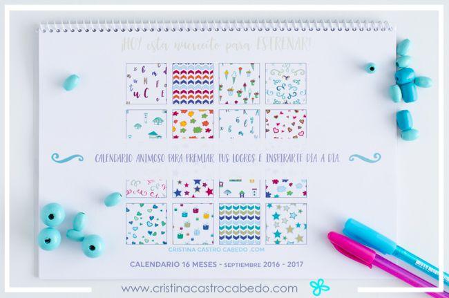 Ahora es el momento perfecto para empezar el nuevo curso con este calendario escolar imprimible de 2016-2017