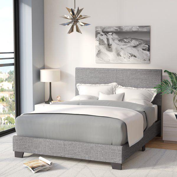 Darian Queen Standard Bed Grey Bed Frame Queen Panel Beds