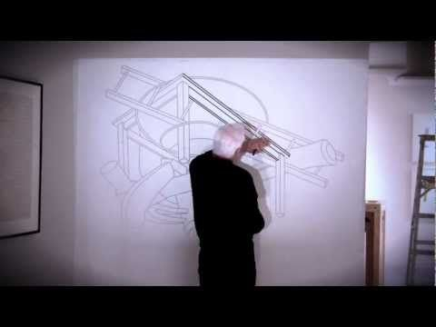 """Michael Craig-Martin's """"Drawings"""": Installation Timelapse - YouTube"""