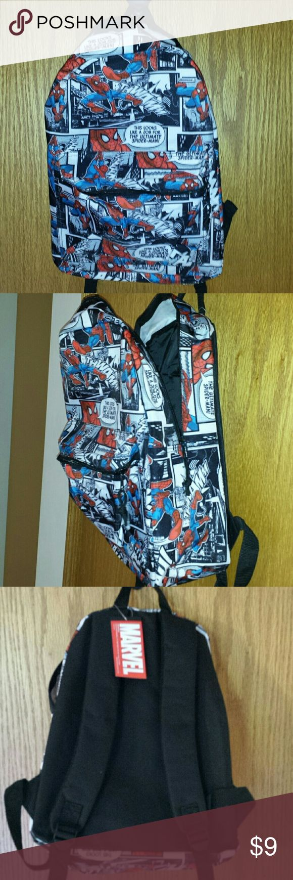 Spiderman backpack NWT Backpack with front pocket and adjustable straps in sturdy printed canvas. Bioworld Bags Backpacks