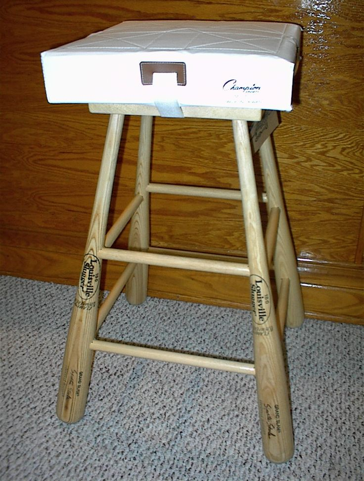 baseball bat bar stool to go with the bat headboard, maybe