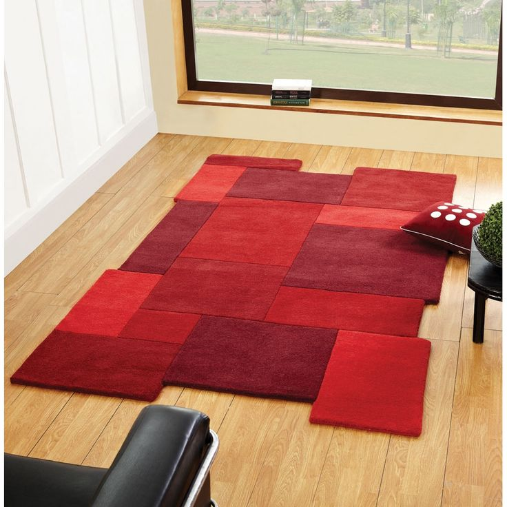 Abstract Collage Rugs In Red Online From The Rug Er Uk Wool