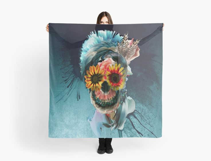 Digital Art • Also buy this artwork on scarves, apparel, stickers, and more. #skull #women #fashion