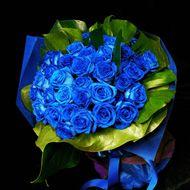 不可能を可能にするという伝説のある、青いバラ。