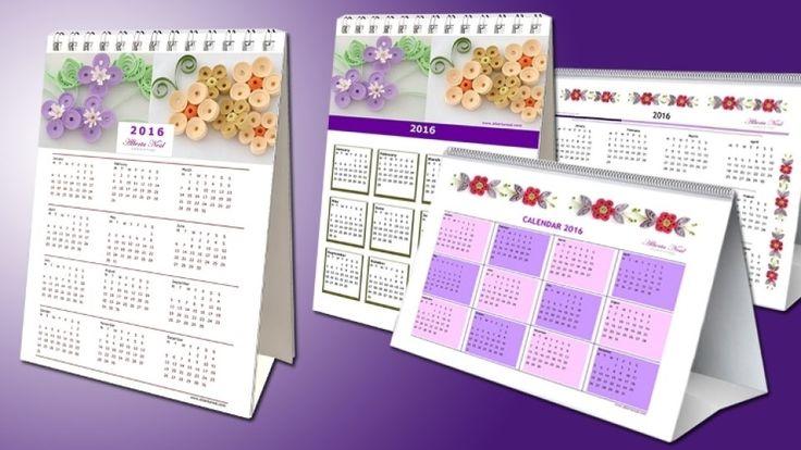 2016 Quilling #Calendar – Free Printable | #AlbertaNeal