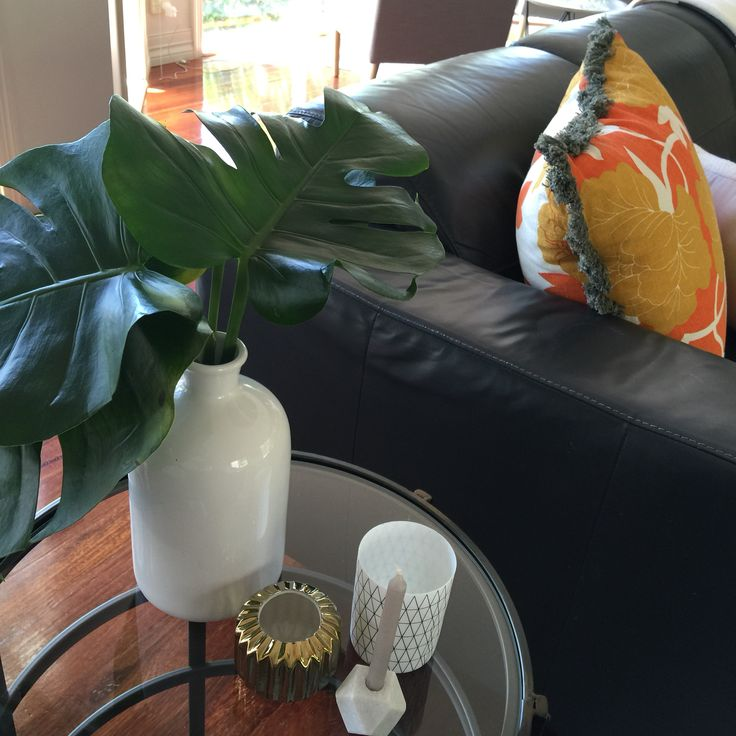 Accessories for a side table, lots of layering.