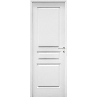 """Ravivez votre déco intérieure avec le bloc-porte Postformé droite au parement """"veiné bois"""". Sa pose sur des cloisons placostyle de 70 mm est simplifiée grâce à une huisserie large de 72 mm."""