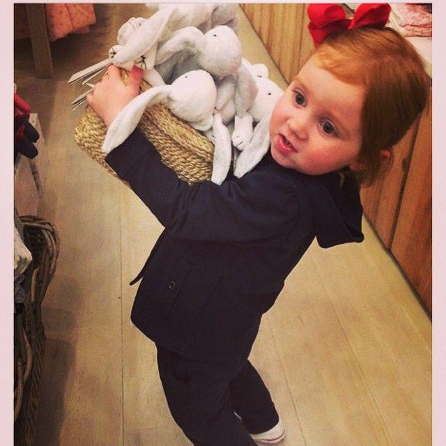 Pixie Curtis shopping at our Melbourne Emporium store! Follow Purebaby on instagram @purebabyorganic