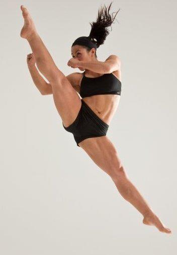 action pose - jumping kick martial arts