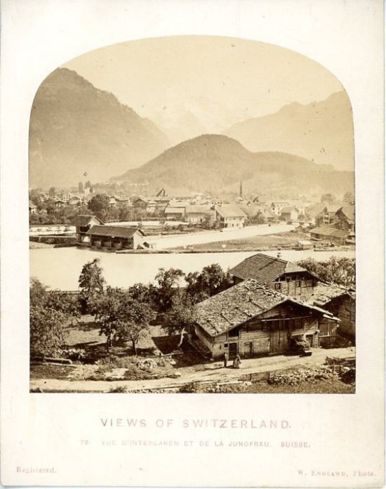 William England, Views of Switzerland, Vue d'Interlaken et de la Jungfrau     #Europe #Suisse_Schweiz