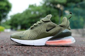 93d787a2f5bd Mens Nike Air Max 270 Olive Green White Sneakers